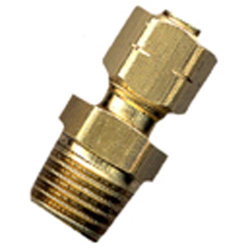 "Union - Brass - 3/8"" x 3/8"" - Tube x MIP"