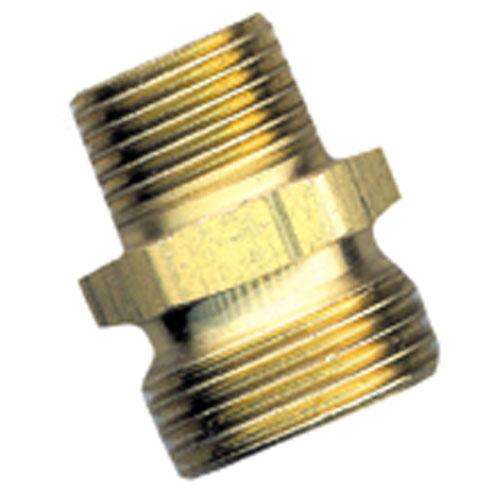 "Hose Connector - Brass - 3/4"" x 1/2"" - Male x MIP"