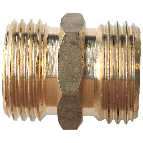 """Hose Connector - Brass - 3/4"""" x 3/4"""" - Male x Male"""