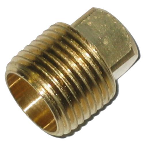 "Plug - Brass - Square Head - 1/4"" - MIP"