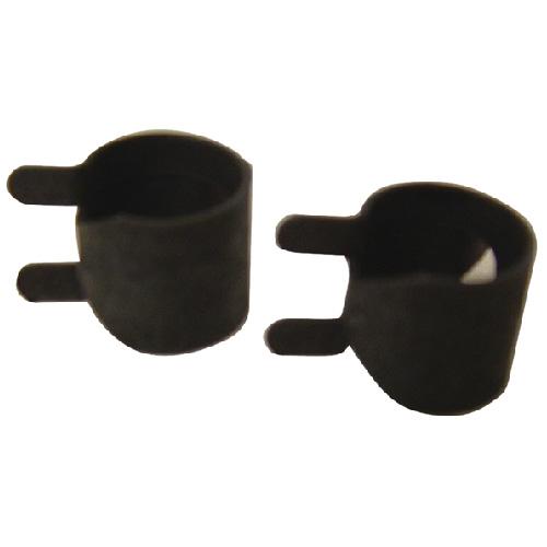 """Attache PBPTC-8 en acier, 1/2"""", 2/pqt, noir"""