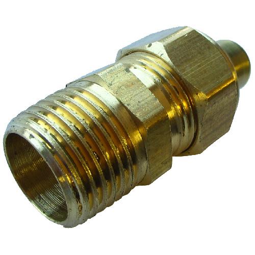 "Coupling - Brass - 1/4"" x 1/8"" - Tube x FIP"