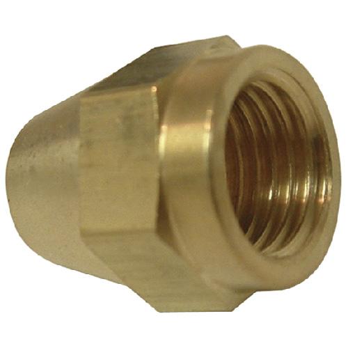 "Short Rod Flare Nut - Brass - 45° - 1/4"""