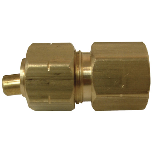 "Coupling - Brass - 3/8"" x 1/4"" - Tube x FIP"