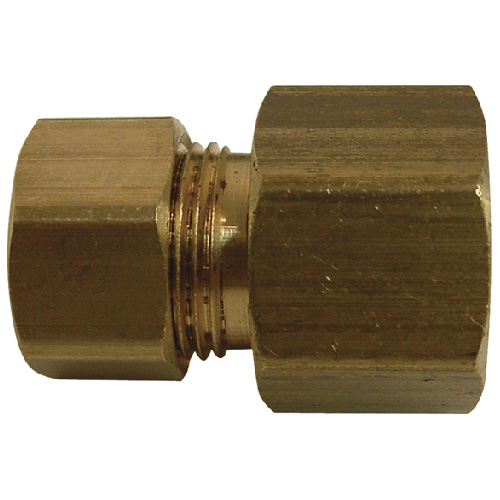 "Coupling - Brass - 3/8"" x 1/4"" - Female x Tube"