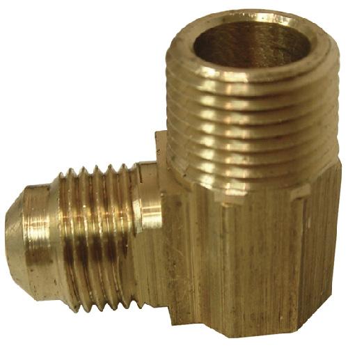 "Flare Elbow - Brass - 45° - 3/8"" x 3/8"" - Flare x MIP"