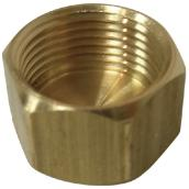 Compression Cap - Brass - 1/2