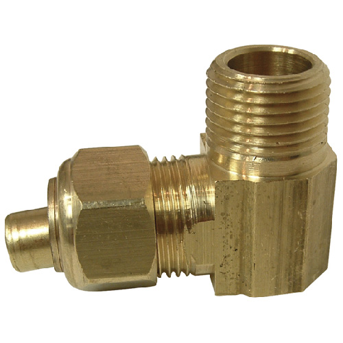 "Elbow - Brass - 90° - 1/2"" x 3/8"" - Tube x MIP"