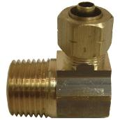 "Elbow - Brass - 90° - 5/8"" x 1/2"" - Tube x MIP"