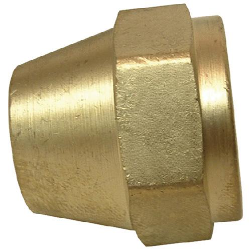 "Short Rod Flare Nut - Brass - 45° - 5/8"""