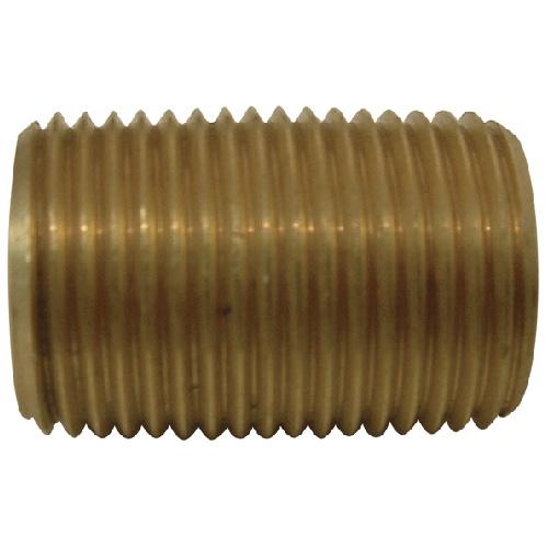 "Nipple - Brass - 1/8"" - MIP x MIP"