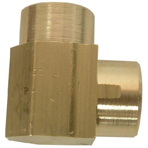 "Elbow - Brass - 90° - 1/4"" x 1/4"" - FIP x FIP"