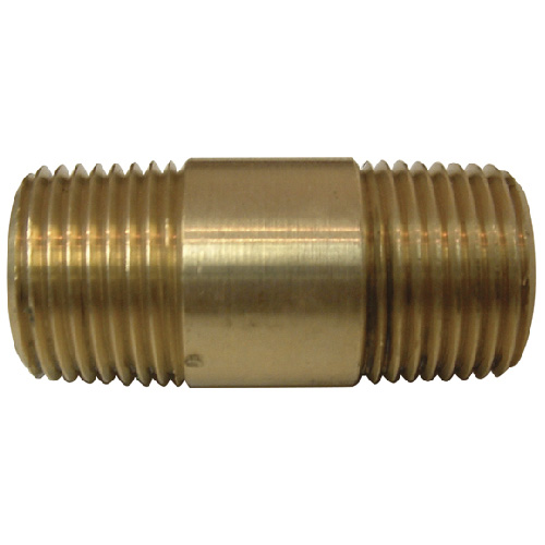 """Nipple - Brass - 3/8"""" x 1 1/2"""" - MIP x MIP"""
