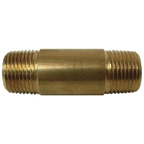 """Nipple - Brass - 3/8"""" x 2"""" - MIP x MIP"""