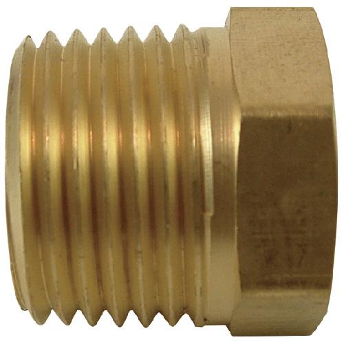 "Hex Bushing - Brass - 1/2"" x 1/8"" - MIP x FIP"