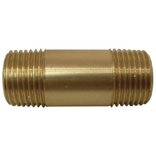 """Nipple - Brass - 1/2"""" x 2"""" - MIP x MIP"""