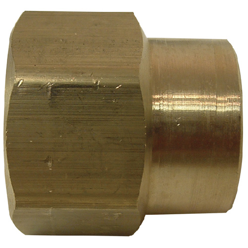 "Reducer Coupling - Brass - 3/4"" x 1/2"" - FIP x FIP"