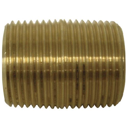 "Nipple - Brass - 3/4"" - MIP x MIP"