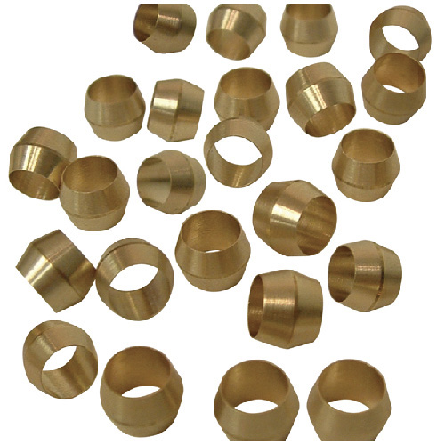 """Compression Sleeves - Brass - 1/4"""""""