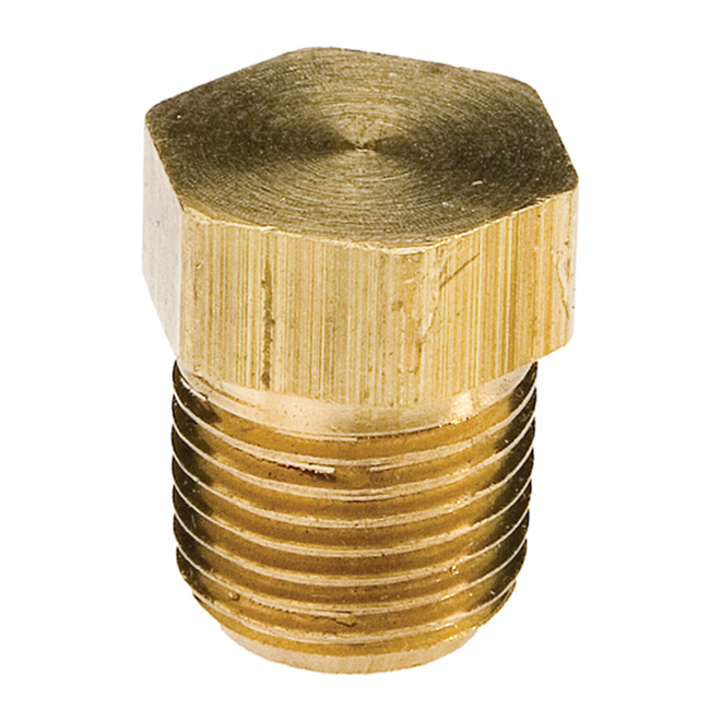 "Plug - Brass - Hex Head - 1/2"" - MIP"