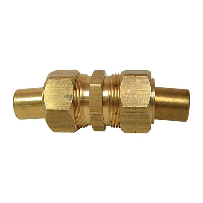 "Union - Brass - 5/16"" x 5/16"" - Tube x Tube"