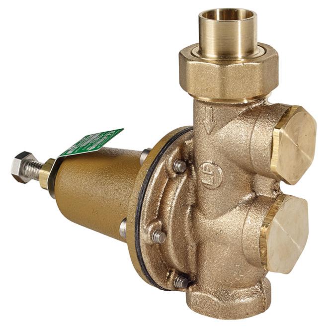 "3/4"" x 3/4"" Lead Free Brass Water Pressure Reducing Valve"
