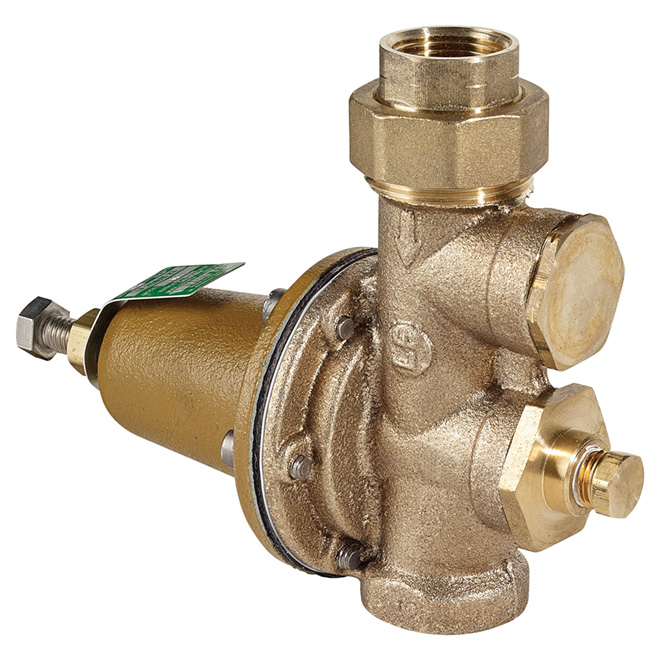"3/4"" Female x 3/4"" Female Brass Pressure Reducing Valve"