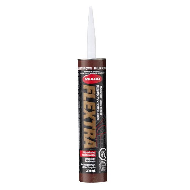 Scellant thermoplastique extérieur 300ml, brun noyer