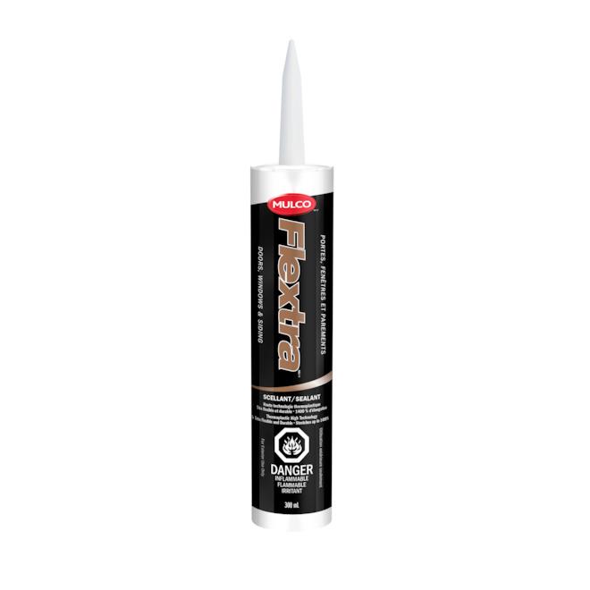 Mulco Thermoplastic Flextra Sealant - Door Window Exterior Siding - 300 ml - Iron Ore