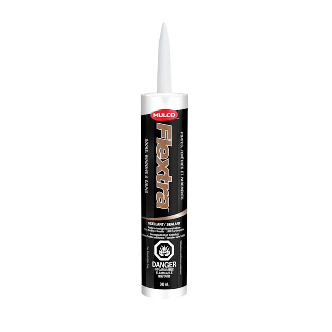 Mulco Flextra Thermoplastic Sealant - Door Window Exterior Siding - 300 ml - Hudson Grey