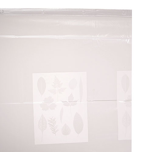Taymor Vinyl Shower Curtain - 71-in x 71-in - Frosted