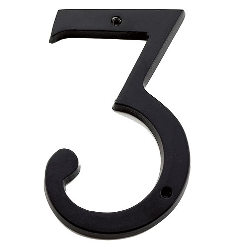 "Nail-On Number - #3 - 6"" - Black"