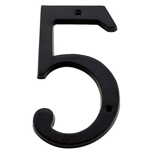 "Nail-On Number - #5 - 6"" - Black"