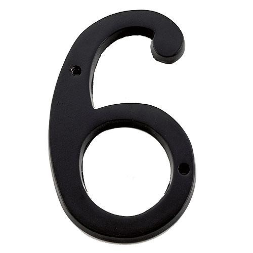 "Nail-On Number - #6 - 6"" - Black"