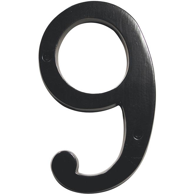 "Nail-On Number - #9 - 6"" - Black"