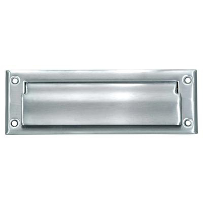 Taymor Brushed Aluminum Mail Slot - 1 7/8-in x 7-in