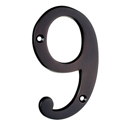 """Nail-On Number - #9 - 4"""" - Antique Bronze"""