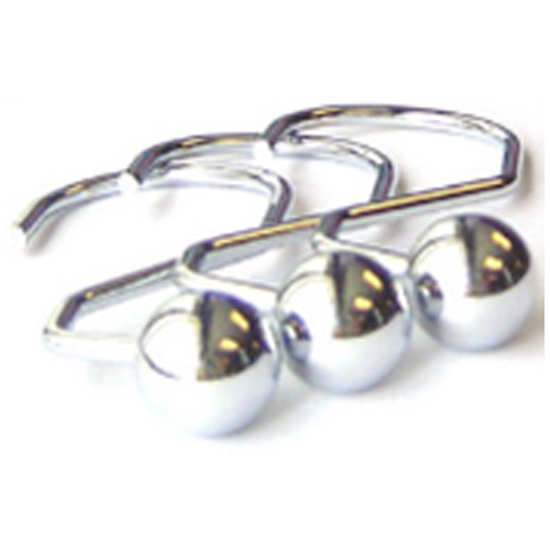 Stee Shower Curtain Rings - Chrome - Pack of 12