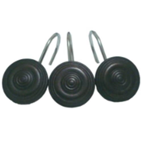 Shower Curtain Hooks - Antique Bronze - 12/Pack