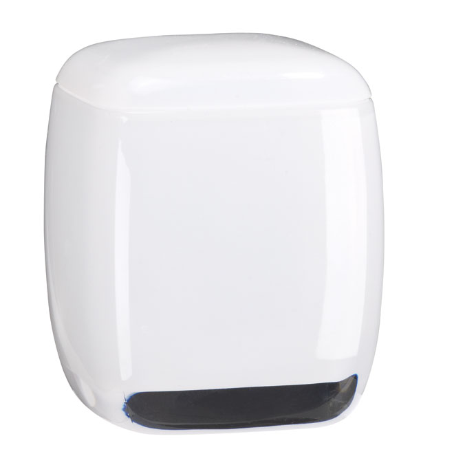 Taymor Wall Mounted Cotton Ball Holder - White - Acrylic - Square