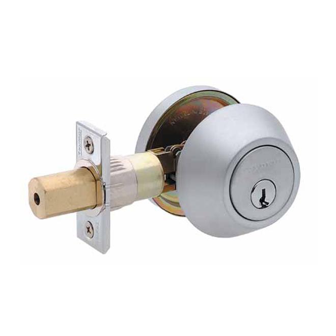 Deadbolt Lock - Single Cylinder - Satin Chrome