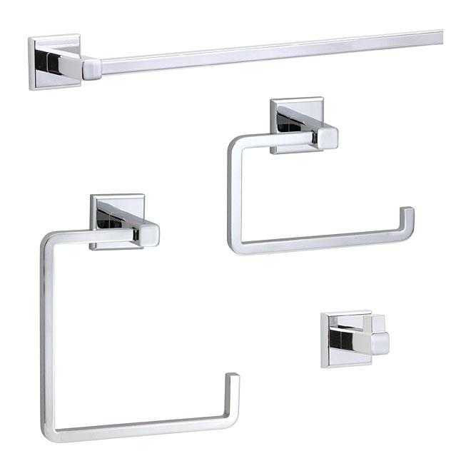Bathroom Accessory Set ''Ultra'' - 4 Pieces - Chrome
