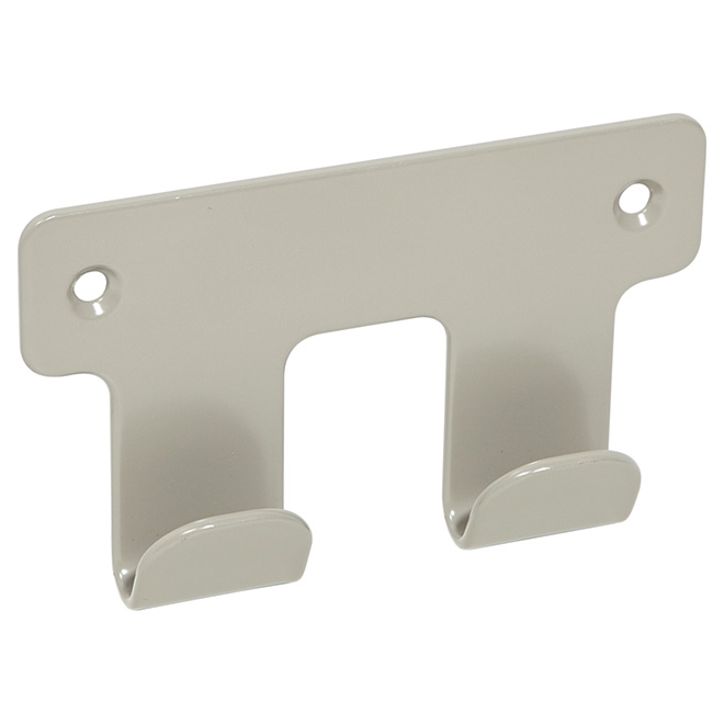 "Robe Hook - ""Chroma"" Double Robe Hook - Modern Grey"