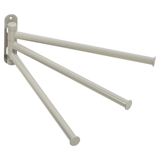 "Towel Holder - ""Chroma"" 3-Arm Towel Holder - Modern Grey"