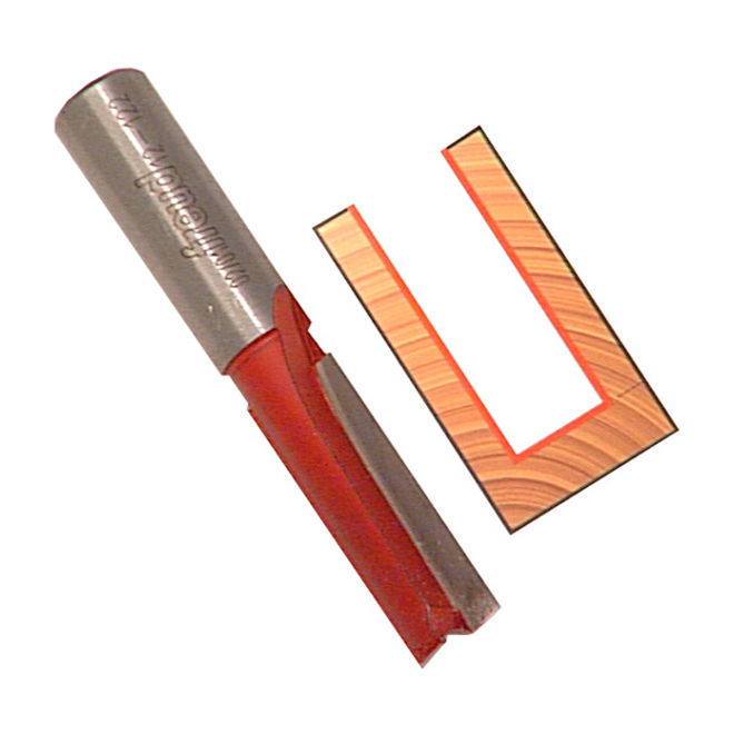 Freud Double Flute Straight Router Bit - 3/4-in dia x 2 1/8-in L - 1/4-in Round Shank - 3/4-in Carbide Height