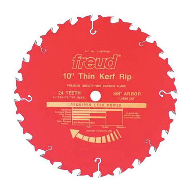 """Thin"" Ripping Circular Saw Carbide Blade-10""-24TH"