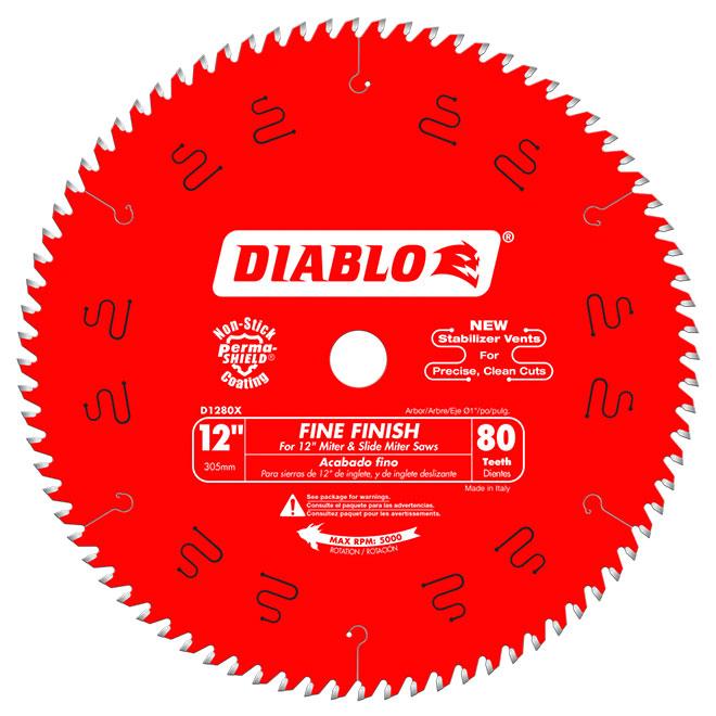 "Circular Saw Blade - Carbide - Finishing - 80 TH - 12"""