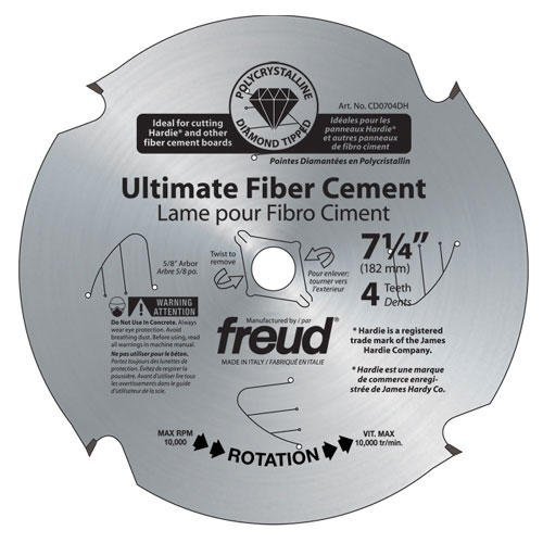 Ultimate fiber cement blades