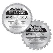 Saw Blades Set - Carbide - 24 and 60 TH - 2/PK