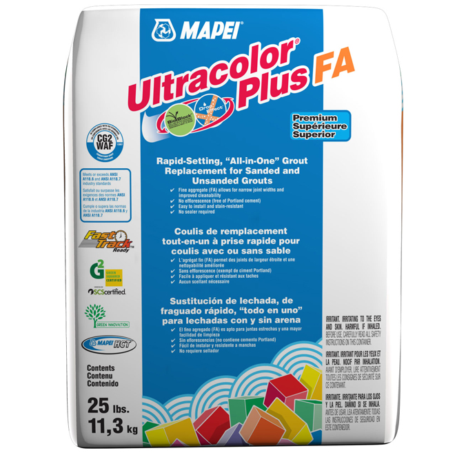 """""""Ultracolor Plus"""" Floor Grout 11.3kg - Pearl Grey"""